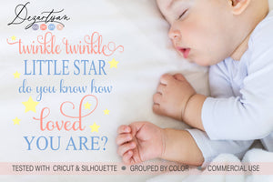 Twinkle Twinkle How Loved You Are SVG | DXF Cut File
