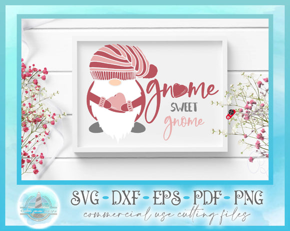 Valentines SVG | Gnome Sweet Gnome SVG