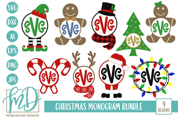 Christmas Monogram Bundle