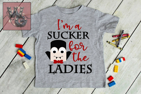 I'm a Sucker For the Ladies Vampire Cut File WG104