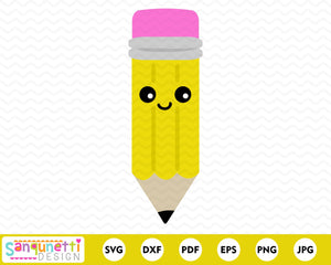 Pencil Character SVG Cutting file