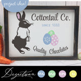 Cottontail Co Quality Chocolates Easter Bunny SVG