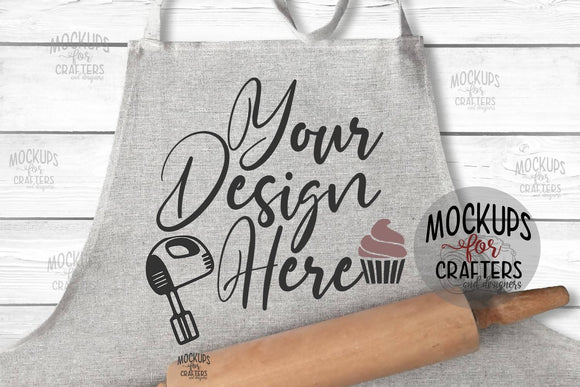 Apron - Grey - Mock-up