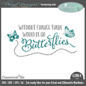 Without Change There Would Be No Butterflies