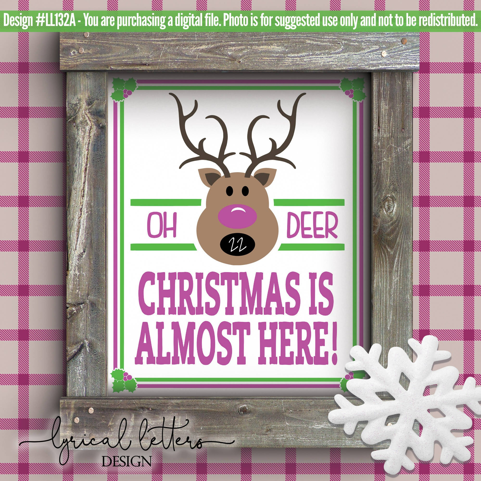 Christmas Is Almost Here Reindeer Countdown Svg Cut File Svg Font Market