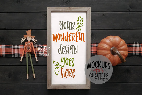 Rectangular Wood Sign - FALL THEME