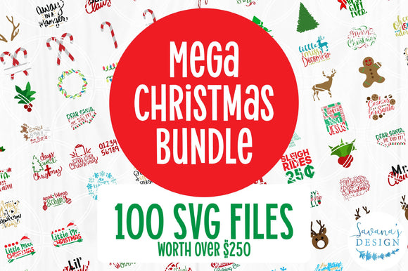 Mega Christmas SVG Bundle