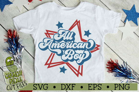 All American Boy Patriotic SVG Cut File
