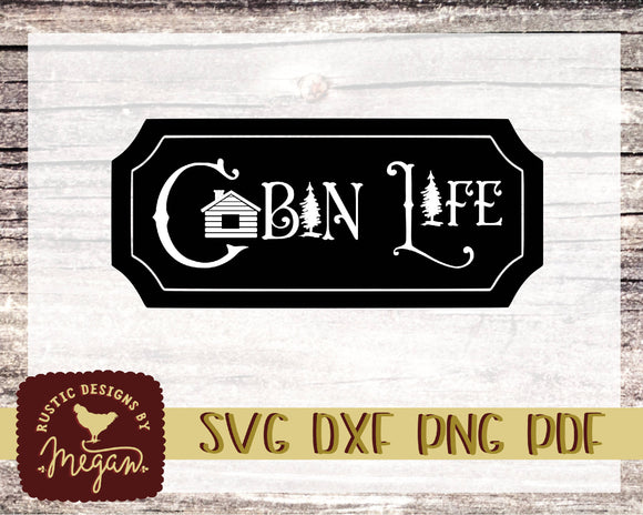 Outdoors Cabin Life Camping SVG DXF Comm Cut file
