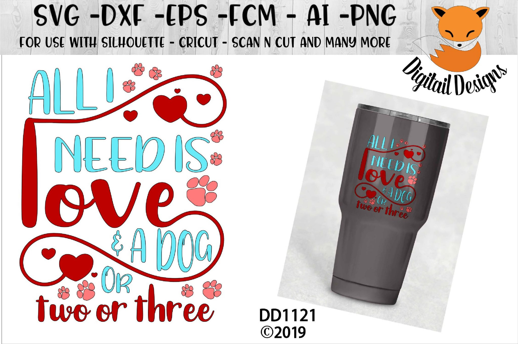 Get All You Need Is Love And A Dog Svg PNG
