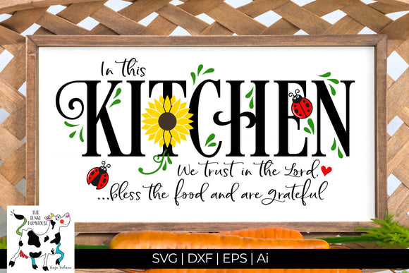 In this Kitchen SVG Cut File
