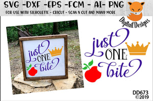 Just One Bite Fairy Tale Snow White SVG