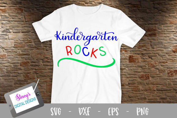 Kindergarten Rocks SVG - School SVG - handlettered