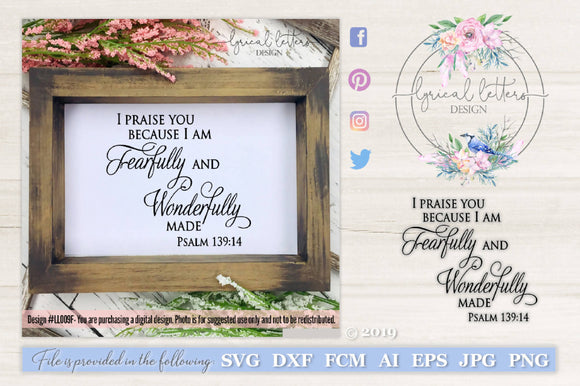 View I Am Fearfully And Wonderfully Made Svg Crafter Files