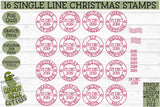 16 Foil Quill Christmas Stamps
