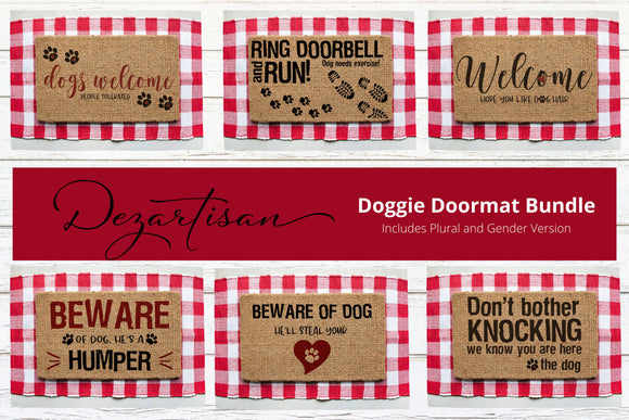 Doggie Doormat Bundle SVG | DXF Premium Cut File for Cricut & Silhouette Machines