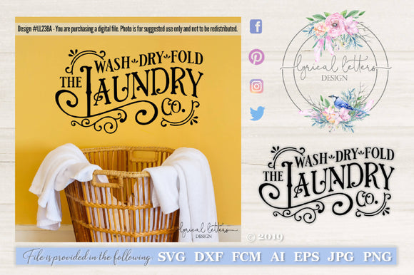 The Laundry Co. Wash Dry Fold Farmhouse