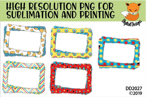 Reading Week Inspired Sublimation Frames PNG