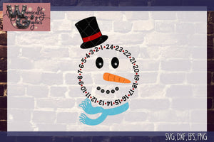 Snowman Countdown Cut File WG127