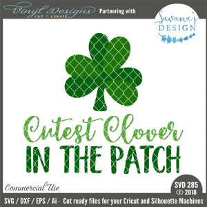 Cutest Clover in the Patch Cut File