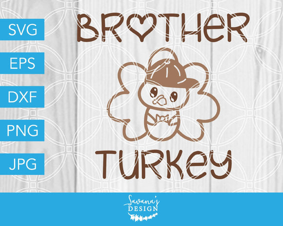 Turkey Brother SVG Cut File