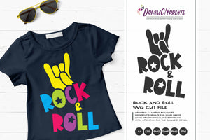 Rock and Roll SVG - Rock Music SVG Cut Files