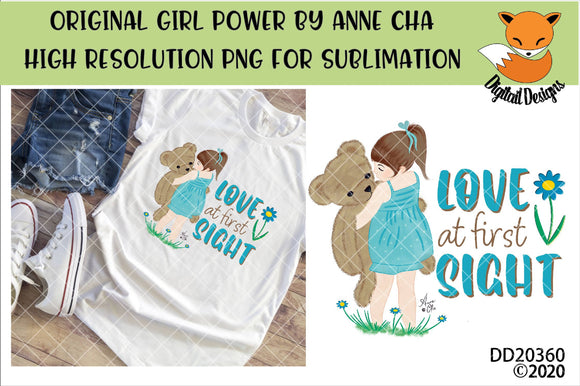 Love At First Sight By Anne Cha Art Sublimation Design