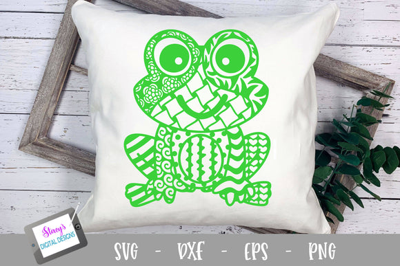 Frog Zentangle SVG - Frog with doodle patterns