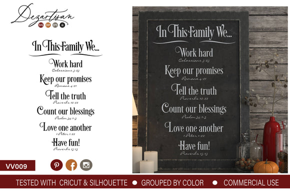 In This Family We SVG | DXF Cut File