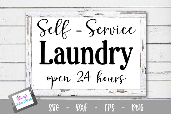 Laundry SVG - Self service laundry - open 24 hours