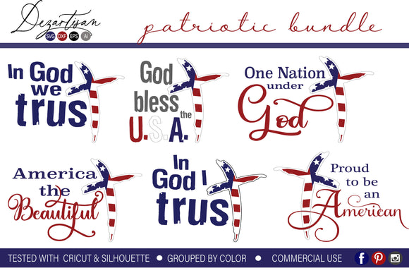 Patriotic Bundle SVG Cut Files