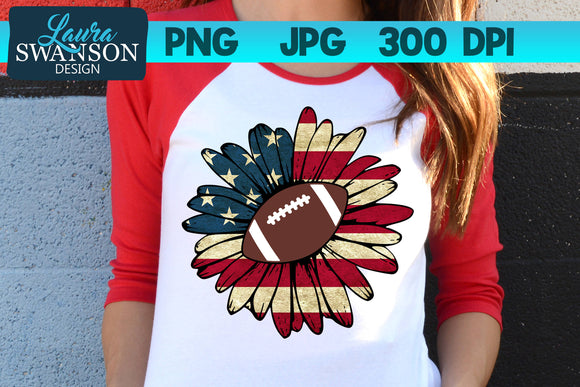 Patriotic Sunflower with Football