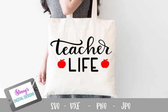 Teacher SVG - Teacher life SVG - Handlettered