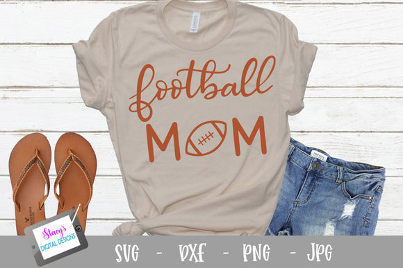 Football SVG - Football Mom SVG - Handlettered