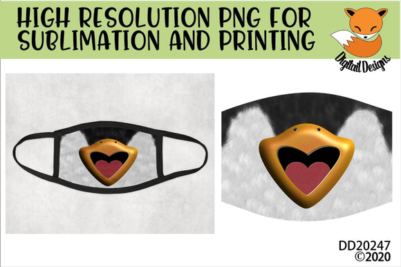 Penguin Beak Face Mask Sublimation Design