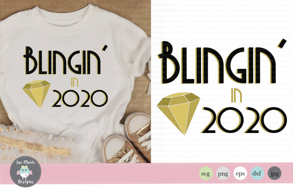 Blingin in the new year, new years eve svg