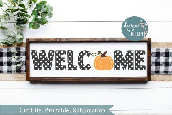 WELCOME with pumpkin