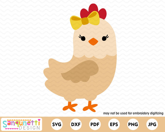 Chicken Character SVG Cutting file