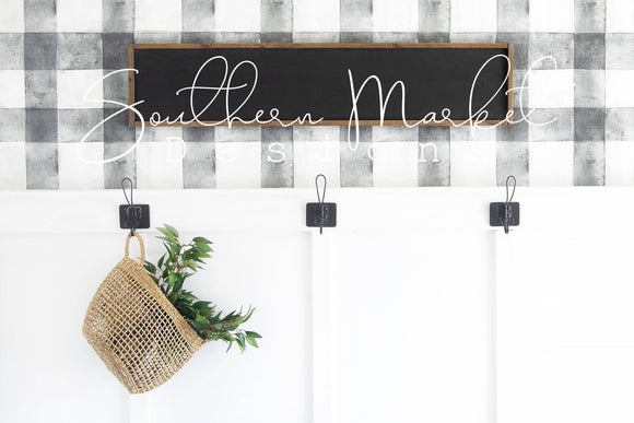 10X48 BLACK WOOD SIGN FARMHOUSE DIGITAL MOCK UP STOCK PHOTOGRAPHY