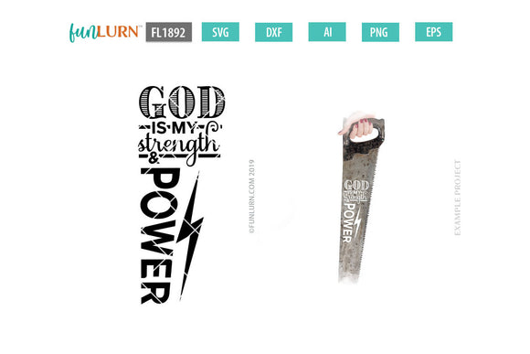 God is My Strength and Power SVG cut file
