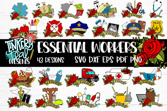 Essential Worker SVG Bundle