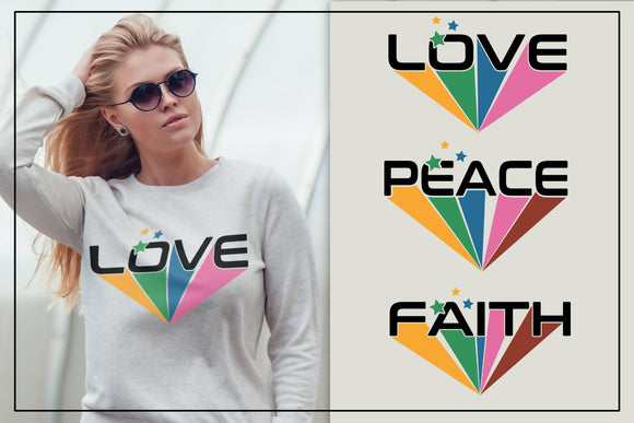 Love peace faith