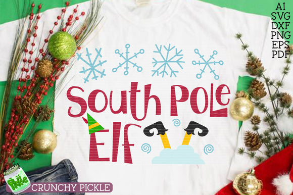 South Pole Elf Christmas SVG