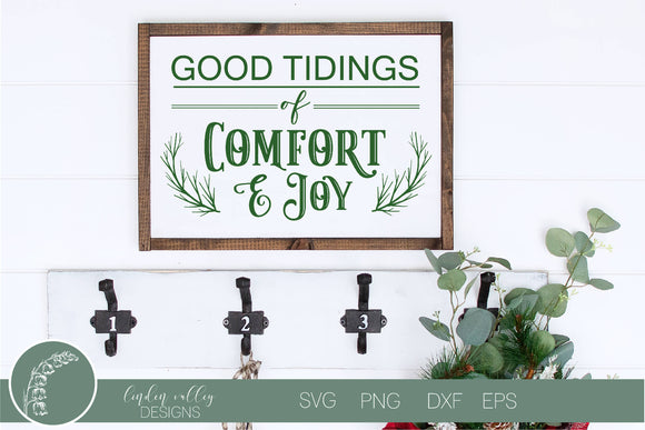 Good Tidings of Comfort and Joy Christmas SVG