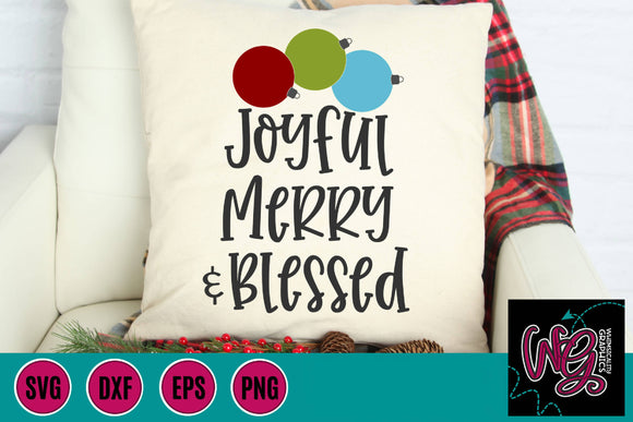 Joyful Merry & Blessed Cut File