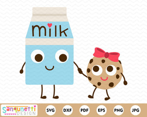 Milk and Cookies SVG Cutting file