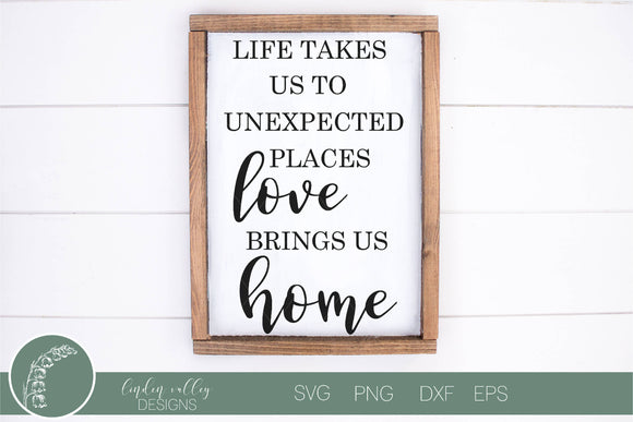 Love Brings Us Home SVG
