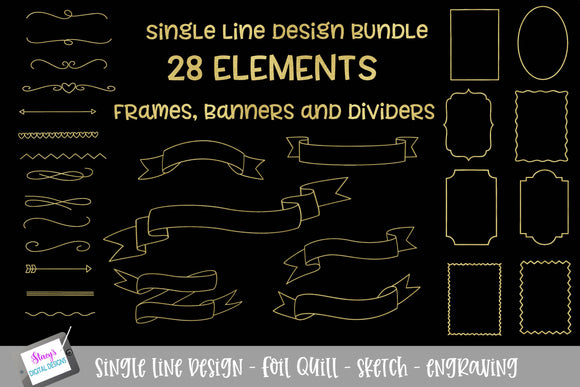 Foil Quill - Single line bundle - 28 elements