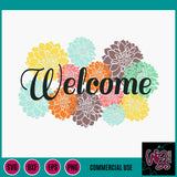 Welcome Dahlia Cut File