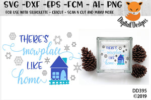 There's Snowplace Like Home Winter SVG